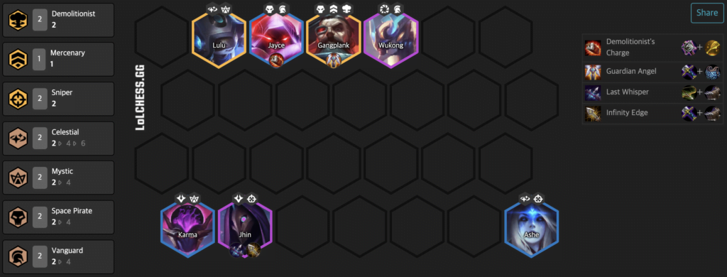 TFT Tier List Vanguard Sniper